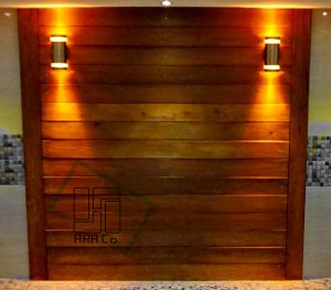 Wooden wall cover